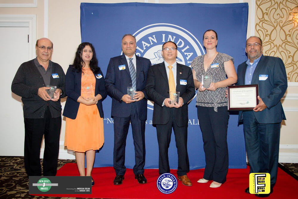 Winners of Immigrant Entrepreneur Award, September 26, 2018 presented by the NJ Immigrant Entrepreneur Award Coalition